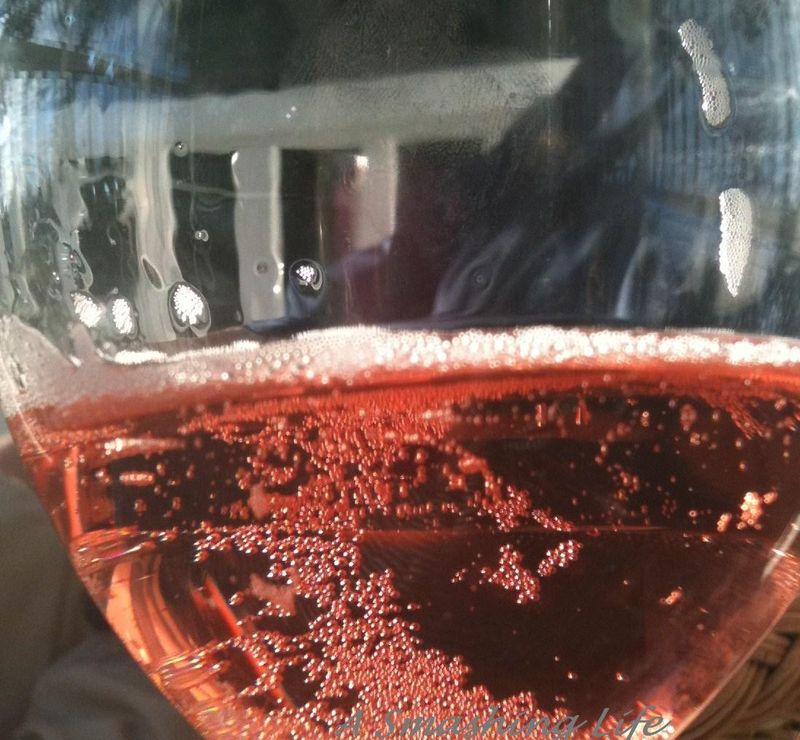 Rose Petullant Bubbles in a Glass A